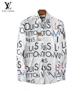 chemises louis vuitton shirts homme printemps-ete lv big flower white