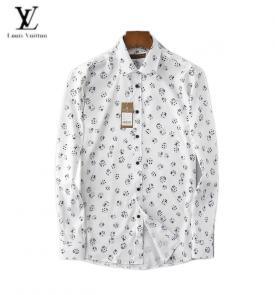 chemises louis vuitton shirts homme printemps-ete lv logo