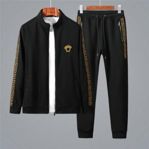 ensemble jogging versace medusa homme 2019 all cotton autumn black