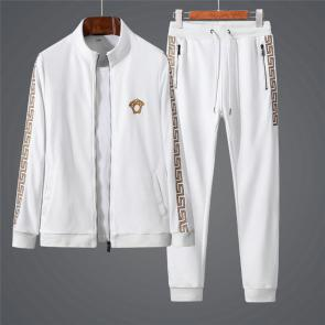 ensemble jogging versace medusa homme 2019 all cotton autumn white