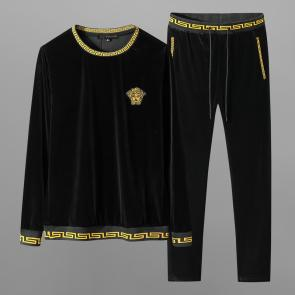 ensemble jogging versace medusa homme 2019 golden velvet black