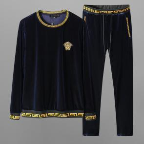 ensemble jogging versace medusa homme 2019 golden velvet blue