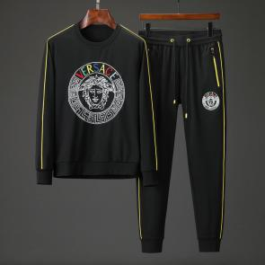 ensemble jogging versace medusa homme 2019 sports suit embroidery logo black sp