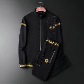 ensemble jogging versace medusa homme 2019 hf embroidery zipper black