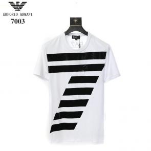 giorgio armani new season t-shirts training e7003 white