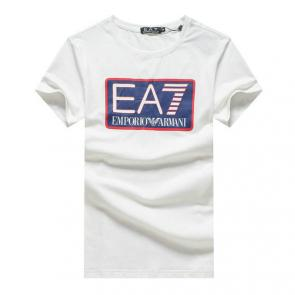 giorgio armani new season t-shirts training big ea7 logo cotton