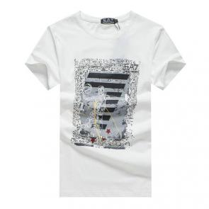 giorgio armani new season t-shirts training sport basketball blanc
