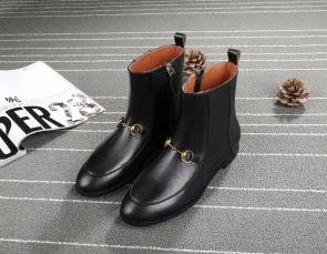 gucci black womens designer boots classic imported leather boots black