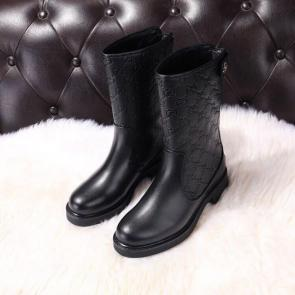 gucci black femmess designer boots cowhide heel and high 4.5 centimeters