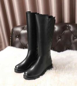 gucci black femmess designer boots cowhide embossed fabric