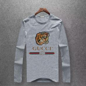 gucci logo limited edition long sleeve t-shirt cs6651 tiger k493956