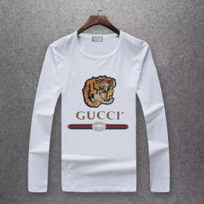 gucci logo limited edition long sleeve t-shirt cs6651 tiger white