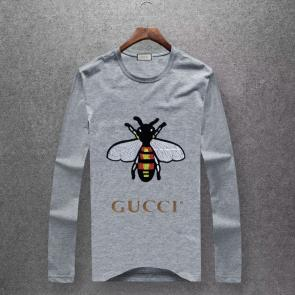 gucci logo limited edition long sleeve t-shirt cs6652 bee j628859