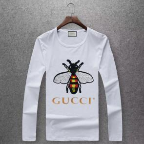 gucci logo limited edition long sleeve t-shirt cs6652 bee n392091