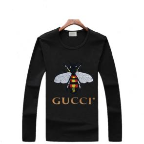 gucci logo limited edition long sleeve t-shirt cs6652 bee s948510