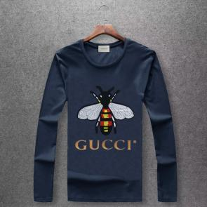 gucci logo limited edition long sleeve t-shirt cs6652 bee u92801