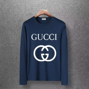 gucci logo limited edition long sleeve t-shirt classic gg blue