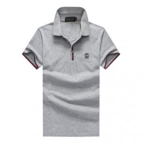 gucci hommes unisex gucci polo t-shirt gg button gray