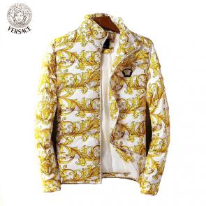 homme doudoune versace solde luxe print flower gold white