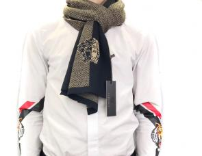 homme echarpe versace logos rayures multicolor embroidery medusa hiver