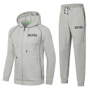 hugo boss authentic sweatshirt tracksuit embroidery boss hoodie gray
