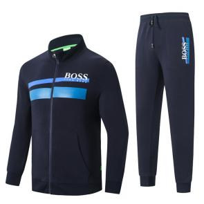 hugo boss jacket zip up pantalon loungewear tracksuit hg88799 blue
