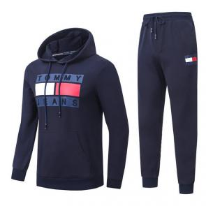 jogging tommy hilfiger femme homme hoodie flag mode gray blue