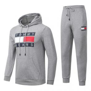 jogging tommy hilfiger femme homme hoodie flag mode gray