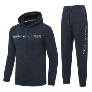 jogging tommy hilfiger femme homme logo center blue