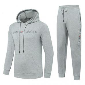 jogging tommy hilfiger femme homme logo center gris