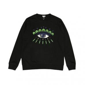 kenzo sweat col rond broderie devant coton eyes