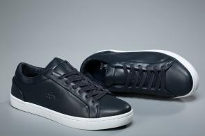 lacoste europa sneaker center logo blue