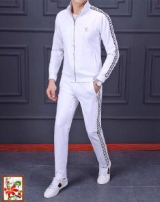 louis vuitton sweat suits new tracksuit for men jogging embroidery white