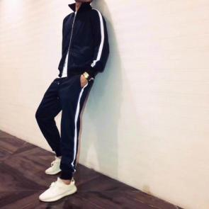 louis vuitton sweat suits new tracksuit for men sweatshirt junior stripe blue