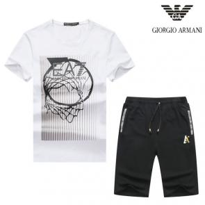 luxe emporio armani manche courte Tracksuit basketball hoop play