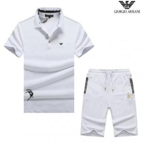 luxe emporio armani manche courte Tracksuit fly all white