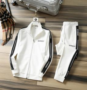 men casual fashion tracksuit givenchy zipper blanc