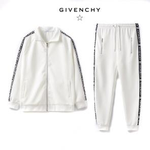 men casual fashion tracksuit givenchy side logo white