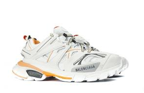 men new season wear balenciaga white orange