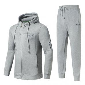 hommes femmes designer survetement hugo boss gray cotton