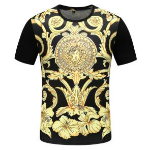 new men shirts tee shirt manches courtes homme baroque print medusa