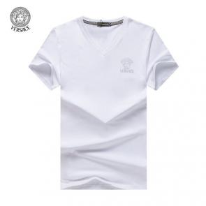 new men shirts tee shirt manches courtes homme col-v neck medusa head