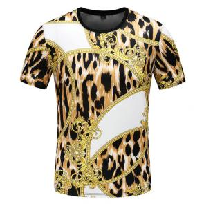new men shirts tee shirt manches courtes homme leopard mode