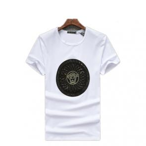 new men shirts tee shirt manches courtes homme round sequin medusa classic