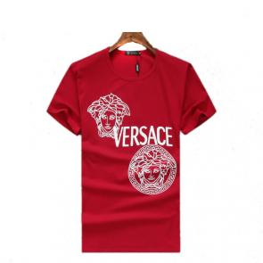new men shirts tee shirt manches courtes homme two medusa red