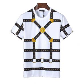 new men shirts tee shirt manches courtes homme v8631 blanc