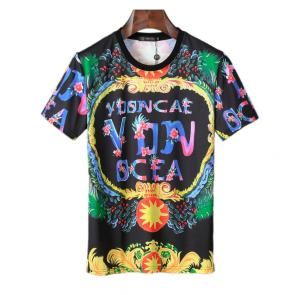 new men shirts tee shirt manches courtes homme v8633 print