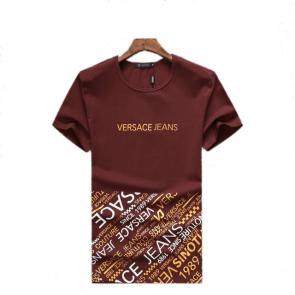 new men shirts tee shirt manches courtes homme versace jeans logo cotton