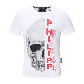 new philipp plein hommes t-shirt pearl decoration cotton