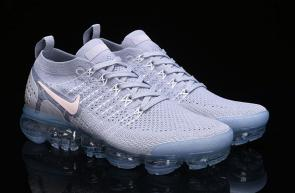 nike air vapormax2 hommes femmes basketball chaussures white gray942843-1089